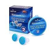 2 Paia/set anti-russamento purificatore d'aria apparecchio di respirazione del naso mini boccioli del naso snore stopper(blu)