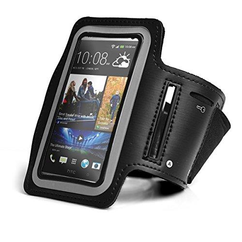 Sports Armband für HTC 10 evo, HTC U Play mit Schlüsselfach und praktischem Klettverschluss Jogging Armtasche Tasche Sportarmband Hülle Handytasche