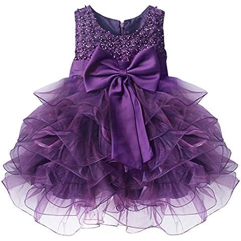 iEFiEL Vestidos de Princesa Elegante para Bébes y Niñas de Bautizo de Fiesta Varios Colores