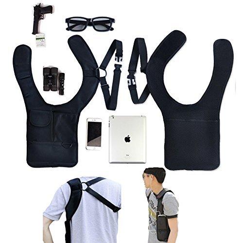 Generic Sicher Anti-Diebstahl versteckte Unterarm Schultertasche FBI Holster Handy Fall Tasche Brieftasche Pocket Schlüssel Geldbörse Aufbewahrungstasche für Travel Bags (Abas-geldbörse)