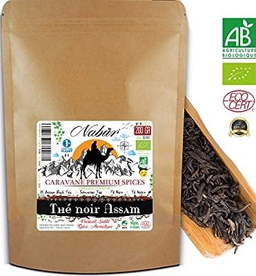 Thé Noir Assam Bio d'Inde 200 Gr ? Nabür ? Naturellement Riche, Aromatique, Certifié Ecocert