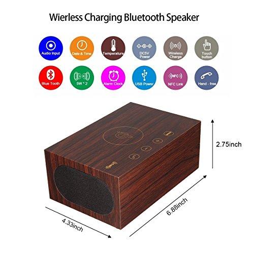 ELEGIANT Holz-Lautsprecher und Multifunktionsgerät