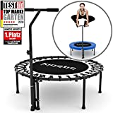 Kinetic Sports Indoor Fitness Trampolin Home Trampolin, Durchmesser 100 cm, Haltegriff...