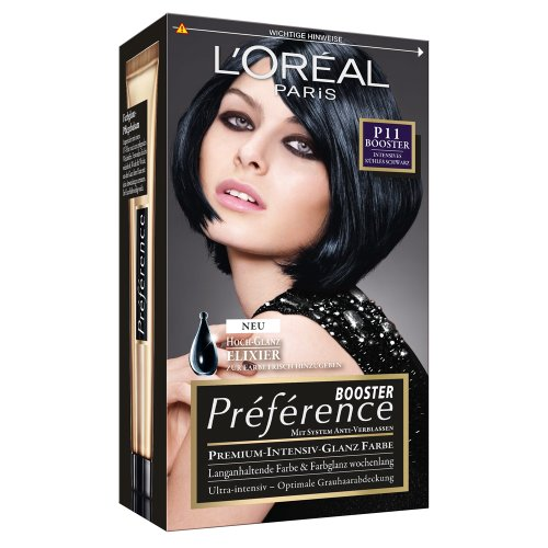 loral paris prfrence booster p11 intenso negro fresco 3 pack 3 - Coloration Rouge Sans Dcoloration