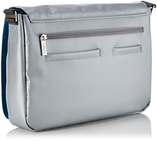 BREE Punch 62 83900062 Unisex-Erwachsene Schultertaschen 34 x 24 x 8 cm (B x H x T) Silber (chrome 570)