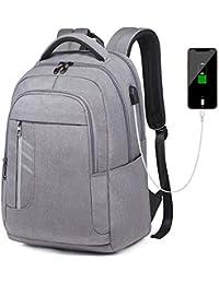 8c4e254bc7 Zaino Porta PC 15.6 Pollici Uomo Donna, Zaino Scuola Zaino USB Antifurto  Impermeabile Zaino per