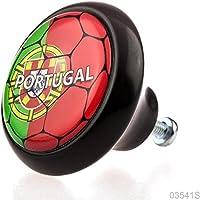 Pulsante di Mobile 03541s Nero Calcio Lega Nazionale Portogallo i bambini, i bambini–100% Made in Germany
