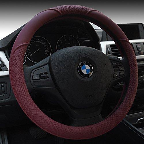 """HCMAX Mikrofaser Weich Fahrzeug Lenkradabdeckung Bequem Auto Lenkradschutz Universal Durchmesser 38cm (15"""")"""