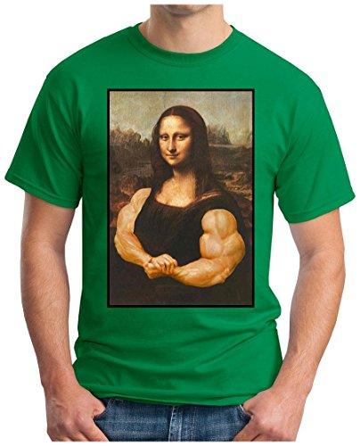 OM3 - MUSCLE-LISA - T-Shirt BODY BUILDING TATTOO PUNK ALC LOUVRE PARIS ART MUSEUM SWAG GEEK PARODY, S - 5XL Grün