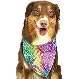 Osmykqe Hund Bandanas Farbe Ananas Hundehalsband Halstuch Haustier Bandana Welpen Handtuch