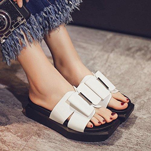 Beauqueen Hausschuhe Frauen OL Elegant Casual Einfache Non-Slip-Familie Komfortable Schuhe EU Größe 35-40 White