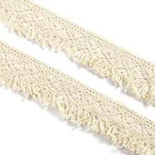 CLE DE TOUS - Cinta Algodón bolillos con fleco 10 metros para costura coser ropa Accesorios Camiseta Ribbon Trim