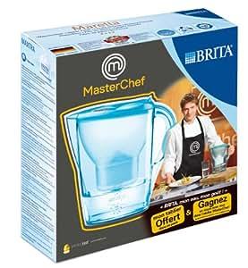 Brita - Caraffa filtrante Marella e grembiule MasterChef Orchidea/Blu