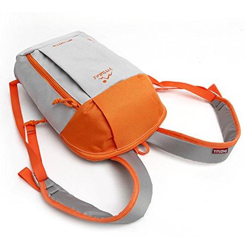 emansmoer Wasserdicht Outdoor Sport Camping Wandern Reise Rucksack Casual Daypack Kinder Schulranzen Tasche (Lila) Orange-Grau