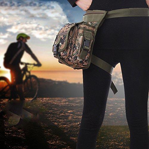 HOUTBY® Multifunktionale Taktische Messenger Bag Utility Pouch Drop Bein Tasche Outdoor Sport Running Biking Wandern Camping Travel Pack Tragen Taschen ACU
