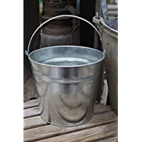 Zinco Metallo Argento Tin Bucket H15cm pianta Herb Pot Wedding Planter Maniglia (Tin Bucket)