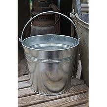 Zinc Métal Argent Tin Bucket H15cm usine Herb Pot mariage Planteur Poignée Garden