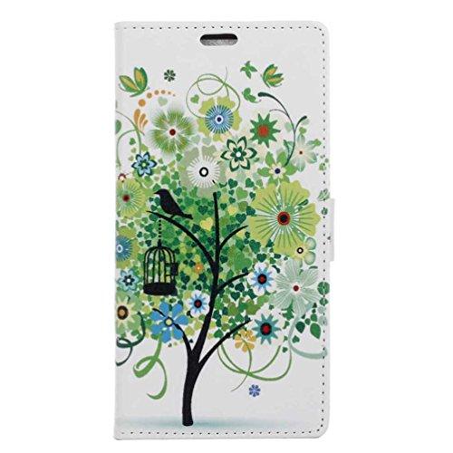 XWZYQ PU Leder Etui Hülle im Bookstyle Handy Tasche für ASUS ZenFone Live L1 ZA550KL (5,5