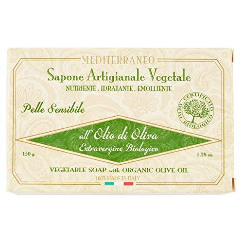 Méditerranée Savon artisanal vegetale- Huile d'Olive Extra Vierge Biologique – 180 gr