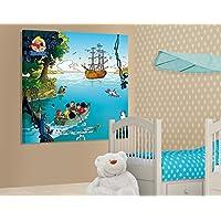 Apalis 50934Abrafaxe Canvas Picture-Boat Trip, 20x 20cm