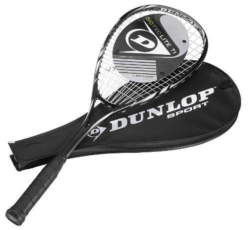 Dunlop Squashset: 2x Squashschläger BIOTEC LITE TI SILVER DELUXE + 2x Schlägerhülle + 3 hochwertige Bälle - 2
