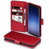 Samsung S9 Plus Hülle, Terrapin [ECHT LEDER] Brieftasche Case Hülle mit Standfunktion Kartenfächer und Bargeld für Samsung Galaxy S9 Plus Tasche - Rot