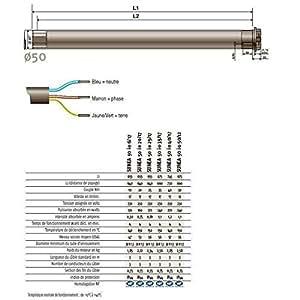 SOMFY - Moteur universel SUNEA 50 io 50/12 pour stores extérieurs horiz. ou verti. SOMFY - 1118171