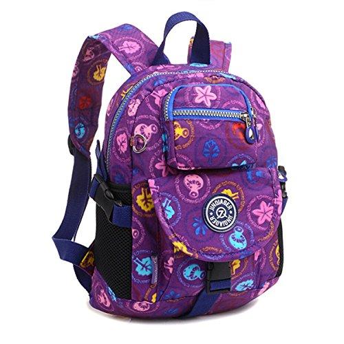 Tiny Chou Sport-Rucksack aus wasserdichtem Nylon, Casual und Leicht, robuster Alltagsrucksack, Purple Plants (violett) - 8620js (Drawstring-sport-pack)