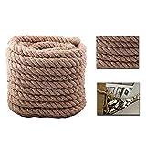 BigTree Juteseil Seil Hanfseil Ø35mm 30M Jute Leine Camping Seil aus 100% Naturfasern Tauziehen Seil