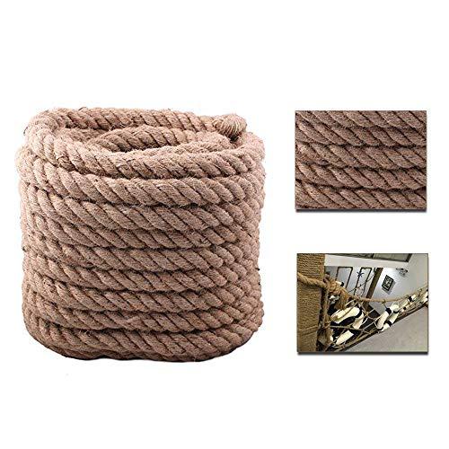 BigTree Juteseil Seil Hanfseil Ø35mm 30M Jute Leine Camping Seil aus 100% Naturfasern Tauziehen Seil (Seil M 30)