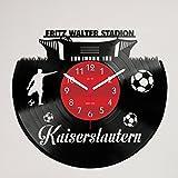 Gravinci Schallplatten-Wanduhr Kaiserslautern Fan