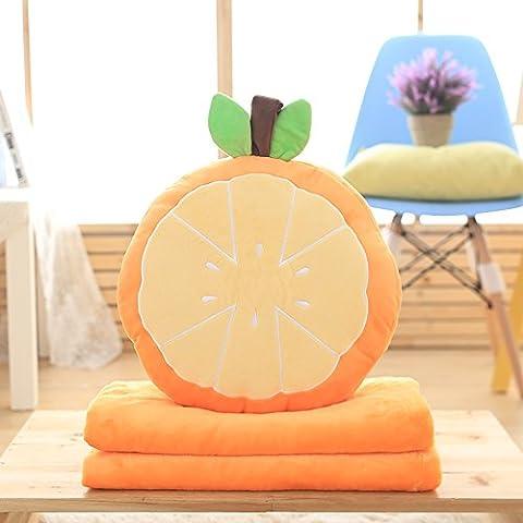flashing lights- frutas siesta almohada edredón naranjas sandía personalizados sencilla aire acondicionado ( Color : Naranja