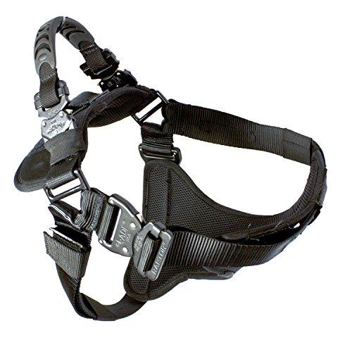 Fusion Petse Trekker Einstellbare Military Tactical Police K9 Ergonomische Hundegeschirr Hunting Wache Canine Schwarz (Einstellbare Zwinger Hund)