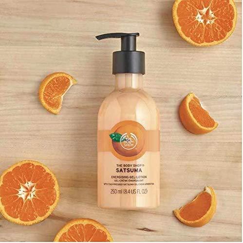 The Body Shop Satsuma Energetisierende Gel-Lotion, 100% Vegane Körperlotion 250ml - Weicht die Haut auf, spendet Feuchtigkeit und spendet Feuchtigkeit