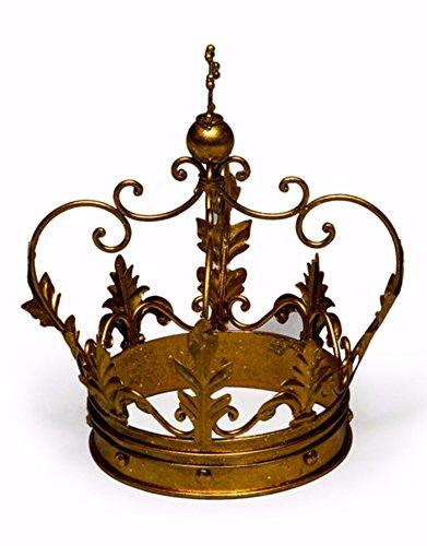 Großer Deko antik goldiron Krone Ornament Geschenk-30x 20x 20cm