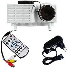 LUFA Centro de Información de LCD UC28 Mini Pico proyector de cine en casa Digital Theater LED proyector VGA / USB / SD / AV / HDMI Proyector Multimedia