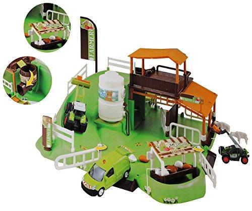 alles-meine.de GmbH Komplettset: XL Bauernhof / mit Stall + Silo + Traktor + Zubehör - 1/64 - für Kinder zum Spielen + Bauen aus Plastik / Kunststoff - Farmtiere Deko Tier - Spie..