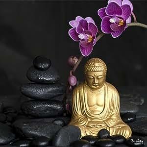 Tableau Zen Bouddha Orchidée