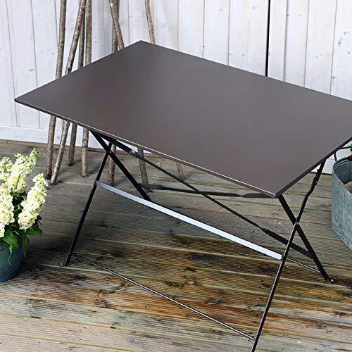 Lazy Susan Rachel Bistro Tisch - ANTIK BRONZE   Faltbarer Metalltisch - Bronze-bistro-tisch