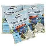 Dehner Aqua Aquarienkies, weiß, Körnung 2.0-3.2 mm, 3 x 5 kg, 1er Pack (1 x 15 kg)