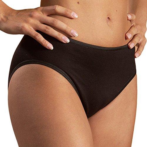 HERMKO 65031 Damen athletic Slip atmungsaktiv schnelltrocknend Funktionsunterwäsche, Farbe:schwarz, Größe:44/46 (L)