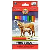 KOH-I-NOOR Farbstifte Dreikant 24er Tricolor Buntstifte Geschenkset Set