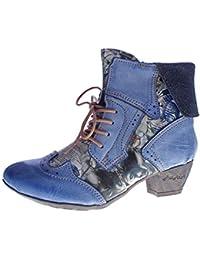 80d755e281fa TMA Damen Stiefeletten Echtleder Comfort Boots Leder Halb Schuhe 6188 Gr.  36-42