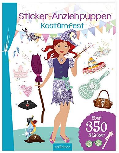 Sticker-Anziehpuppen - - Buch Kostüm Mädchen