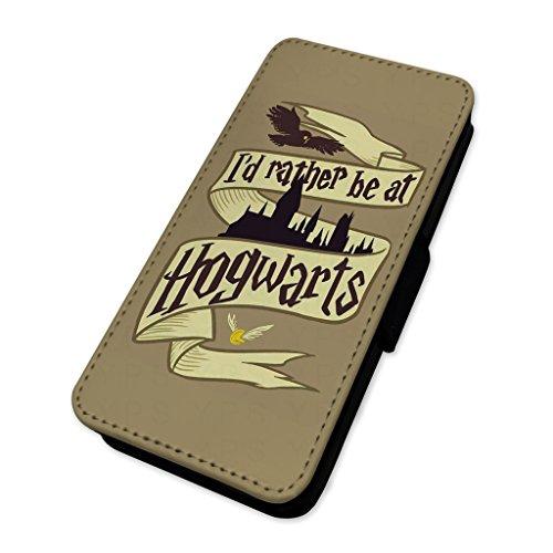 I d Rather be at Hogwarts–mago scuola–Flip cover portafoglio di carta Apple Iphone 8