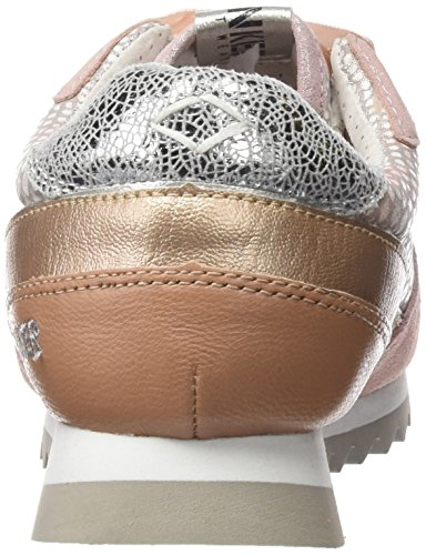 Bunker Sneaker, Baskets Basses Femme Rose (PINK)