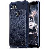 Bounceback ® (V Series) Google Pixel 2 XL Case Shock Proof Anti Slip Leather Pattern Armor Soft TPU Back Cover For Google Pixel 2XL (Dazzle Blue)