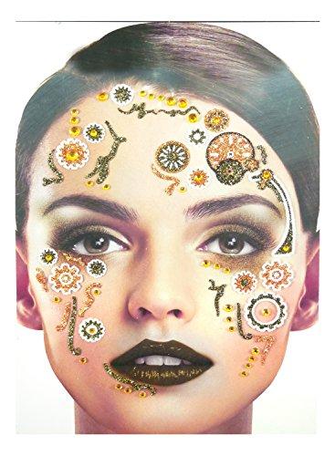 Gesichts Tattoo Face Art Halloween Karneval Steampunk