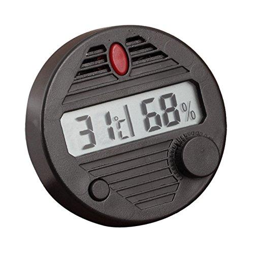 EBILUN rotondo digitale igrometro temperatura umidificatore per Humidor