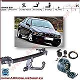 AHK Anhängerkupplung mit Elektrosatz 7 polig für BMW 5 E39 1995-2003 Anhängevorrichtung Hängevorrichtung - starr, mit angeschraubtem Kugelkopf
